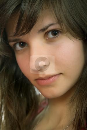 Beautiful stock photo, Young beautiful pensive woman close up portrait by Rui Vale de Sousa