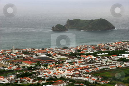 Village stock photo, Azores village view from above by Rui Vale de Sousa