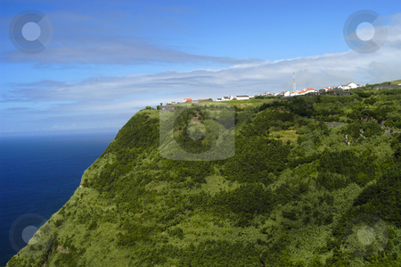Mountain stock photo, Village in the top of the mountain, in azores islands by Rui Vale de Sousa