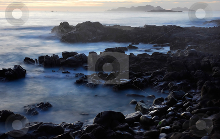 Ocean stock photo, Beach at dawn at the south of portugal by Rui Vale de Sousa