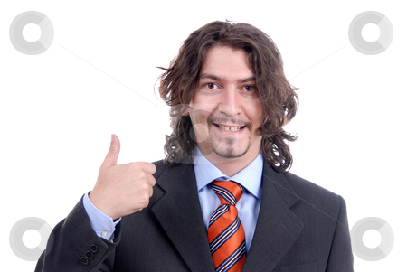 Thumbs stock photo, Young business man with his thumbs up by Rui Vale de Sousa