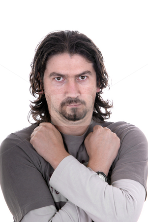 Casual stock photo, Young man portrait in a white background by Rui Vale de Sousa