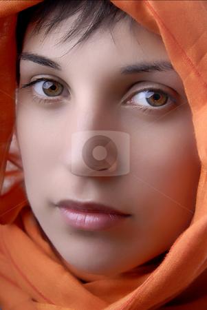 Portrait stock photo, Young woman close up portrait, studio picture by Rui Vale de Sousa