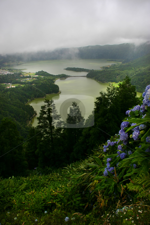 Loch stock photo, Seven town lake in sao miguel of azores by Rui Vale de Sousa
