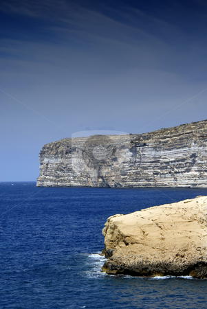 Cliffs stock photo, Malta island coastal view at Gozo island by Rui Vale de Sousa