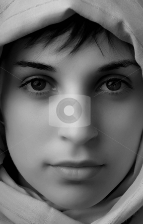 Woman stock photo, Young woman close up portrait, studio picture by Rui Vale de Sousa