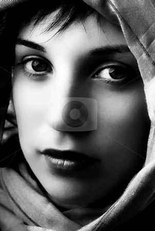 Woman stock photo, Young woman close up portrait, studio picture by Rui Vale de Sousa