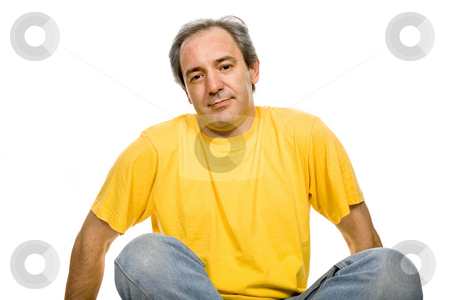 Casual stock photo, Mature casual man, isolated on white background by Rui Vale de Sousa