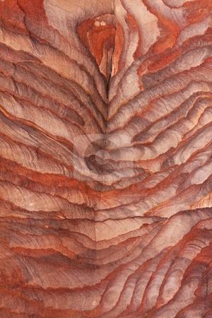 Rock Striations at Petra, Jordan stock photo,  by Chris Budd