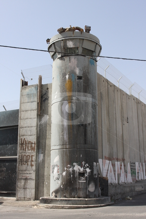 Israeli West Bank Barrier or Wall stock photo,  by Chris Budd