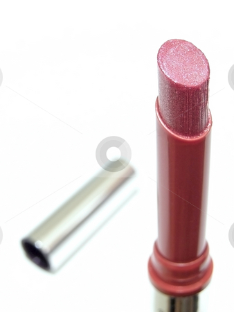 Pink lipstick stock photo, Woman shiny pink lipstick by Sergej Razvodovskij