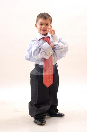 Elegant, small businessman stock photo, Elegant small businessman with glass and modern tie by Dragos Iliescu