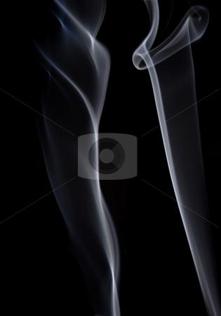 Smoke stock photo, White smoke from a cigarette in black background by Rui Vale de Sousa
