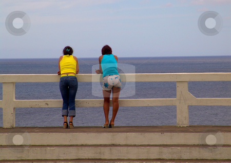 Girls stock photo, Girls and the ocean by Rui Vale de Sousa