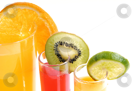 Juice stock photo, A glass of orange juice with cut fruits by Rui Vale de Sousa