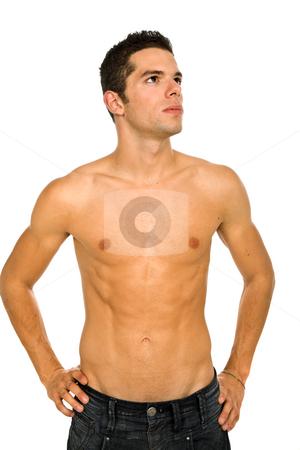 Sensual stock photo, Young sensual man on a white background by Rui Vale de Sousa