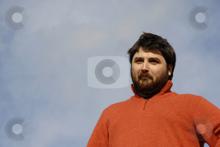 Boy stock photo, Young casual man with the sky as background by Rui Vale de Sousa