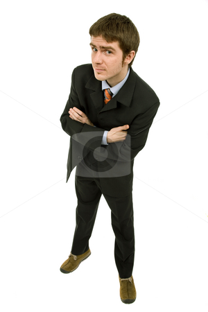 Business man stock photo, Young business man full body isolated on white background by Rui Vale de Sousa