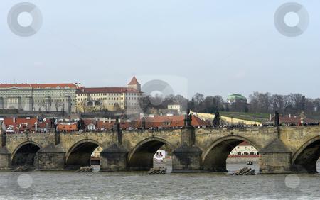 Bridge stock photo, Ancient charles bridge in the city of prague by Rui Vale de Sousa