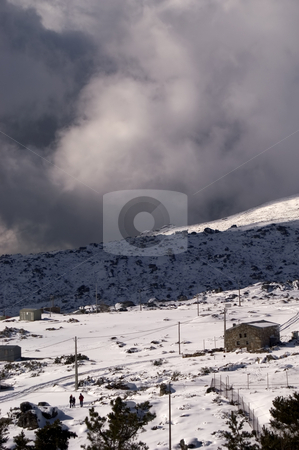 Snow stock photo, Estrela mountain with snow at winter time by Rui Vale de Sousa