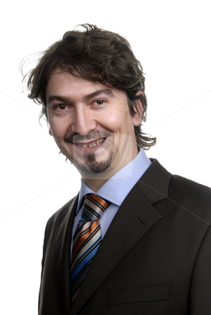 Portrait stock photo, Young business man standing on white background by Rui Vale de Sousa
