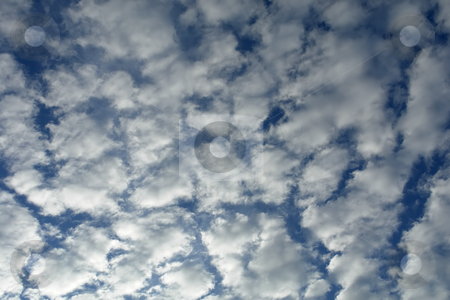 Sky stock photo, Blue sky with some white clouds detail by Rui Vale de Sousa