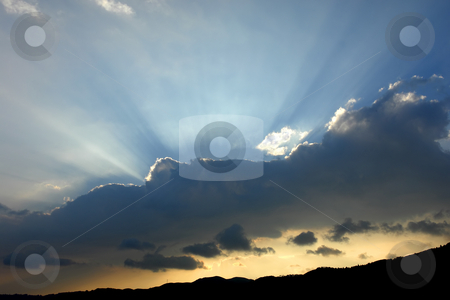 Light stock photo, Sunset at the mountains by Rui Vale de Sousa