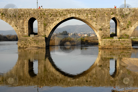 Bridge stock photo, Ancient roman bridge of Ponde de Lima in portugal by Rui Vale de Sousa
