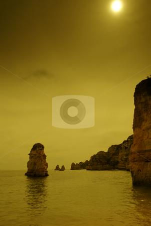 Coastal stock photo, Coastal rocks at algarve in the south of portugal by Rui Vale de Sousa