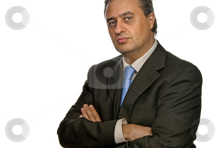 Standing stock photo, Business man isolated over a white background by Rui Vale de Sousa