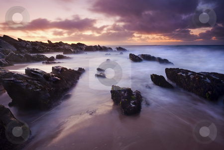 Basham Twilight stock photo, Pre-Dawn Light illuminating the rocks at Basham Beach on the Fleurieu Peninsula, South Australia. by Mike Dawson