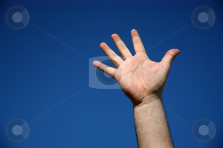 Hand stock photo, Human hand and the sky as background by Rui Vale de Sousa