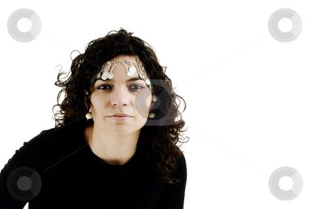 Woman stock photo, Young beautiful woman close up portrait on white by Rui Vale de Sousa