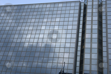 Reflections stock photo, Modern office building in the city of prague by Rui Vale de Sousa