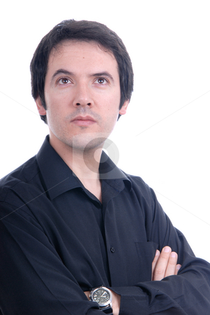 Young stock photo, Young casual male portrait isolated on white by Rui Vale de Sousa