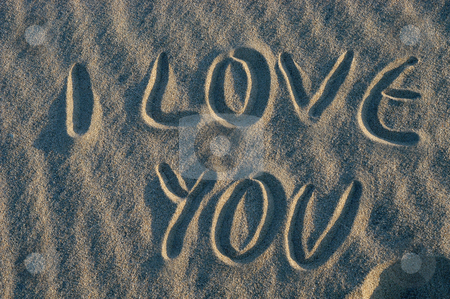 Message stock photo, Love message on the sand by Rui Vale de Sousa