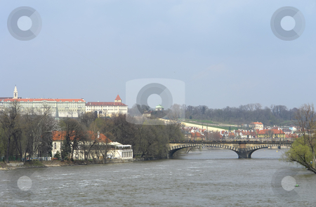Prague stock photo, Ancient bridge in the city of prague by Rui Vale de Sousa