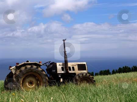 Tractor stock photo, Detail of a field by Rui Vale de Sousa