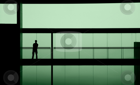 Green stock photo, Man in the building by Rui Vale de Sousa