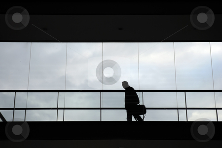 Walk stock photo, Young business man in the office building by Rui Vale de Sousa