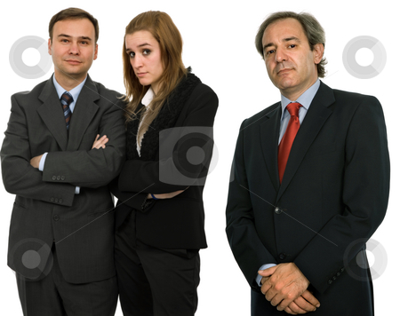 Team stock photo, Business team, isolated on white, focus on the left man by Rui Vale de Sousa