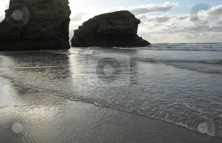 Rocks stock photo, Small beach at algarve in the south of portugal by Rui Vale de Sousa