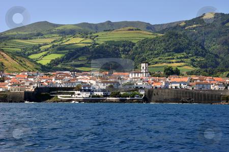 Village stock photo, Azores coastal view by Rui Vale de Sousa