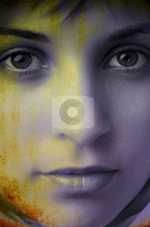 Grunge stock photo, Digital work with a beautiful girl face in grunge background by Rui Vale de Sousa