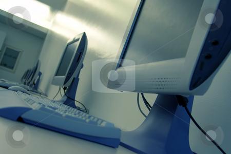 Computers stock photo, Computer room by Rui Vale de Sousa