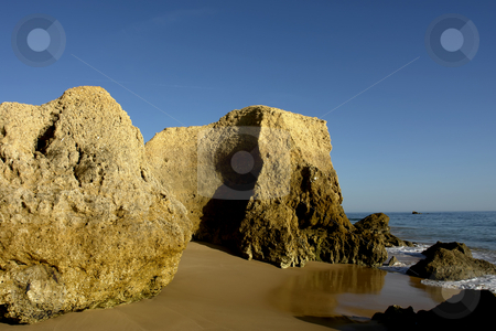 Rocks stock photo, Natural beach in the south of portugal by Rui Vale de Sousa
