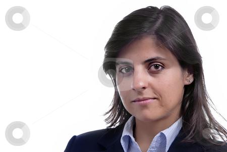 Woman stock photo, Business woman portrait over a white background by Rui Vale de Sousa