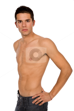 Sensual stock photo, Young sensual man on a whie background by Rui Vale de Sousa
