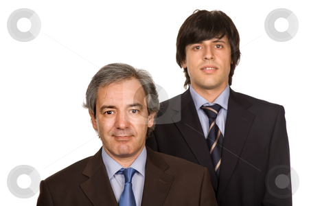Team stock photo, Two young business men portrait, focus on the right man by Rui Vale de Sousa