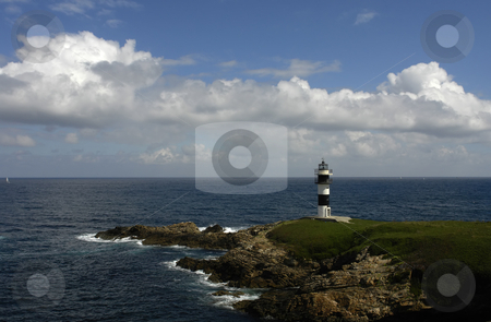 Lighthouse stock photo, Small lighthouse at the coast of north of spain by Rui Vale de Sousa